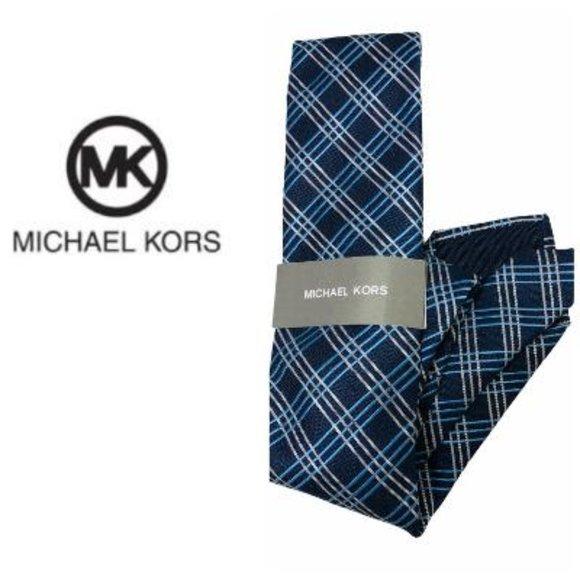 Michael Kors Mens Blue Gray Striped Dress NWT